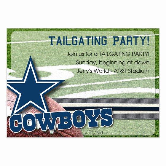 Free Printable Dallas Cowboys Birthday Invitations