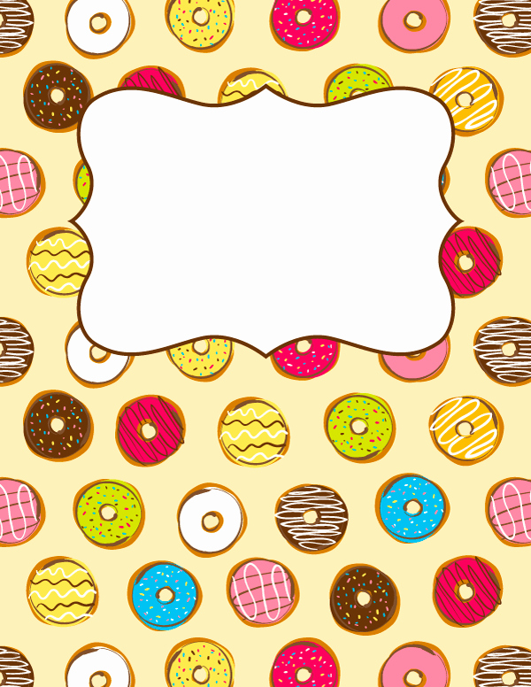 Free Printable Donut Binder Cover Template Download the