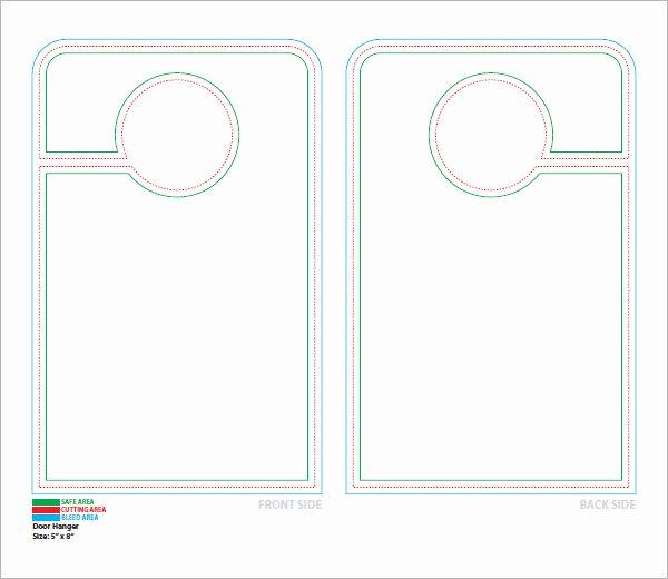 Free Printable Door Knob Hanger Template