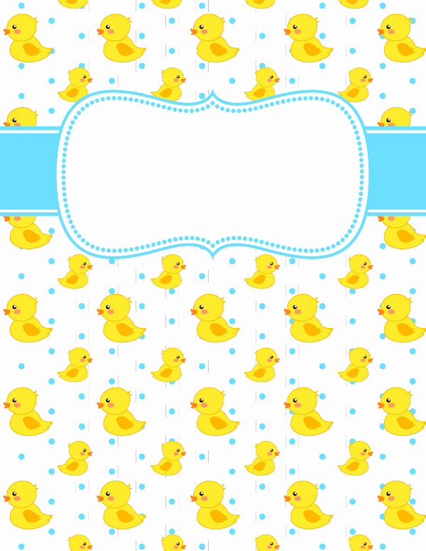 Free Printable Duck Binder Cover Template Download the