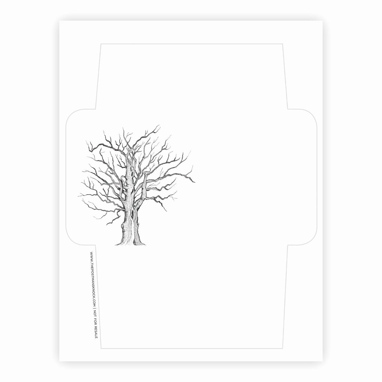 Free Printable Envelope Template Tree