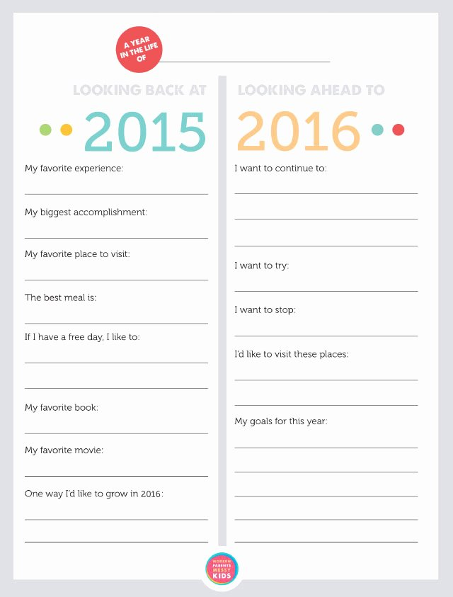 Free Printable Family New Year S Resolutions & Year In