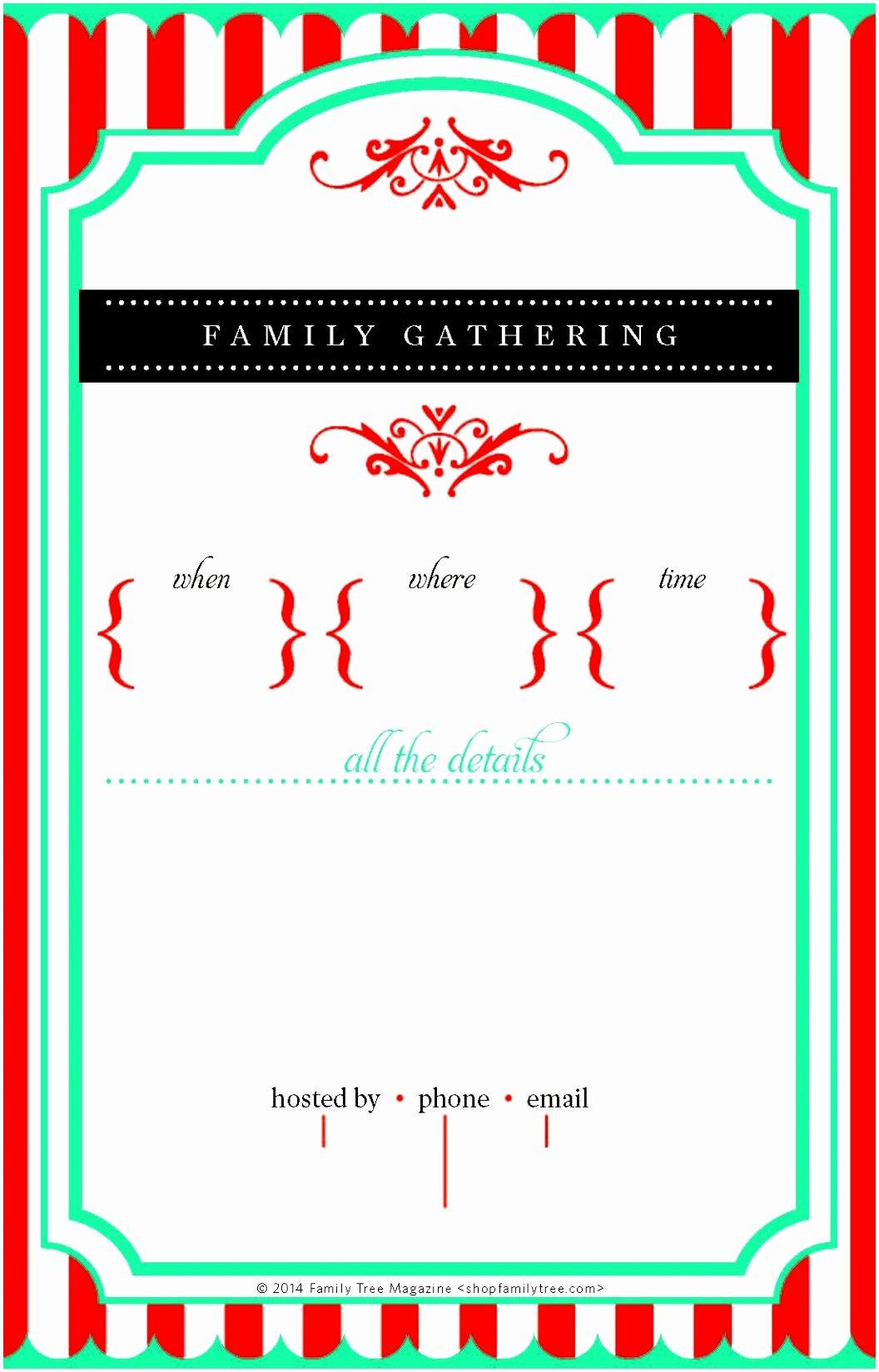 Free Printable Family Reunion Invitations Fiveoutsiders