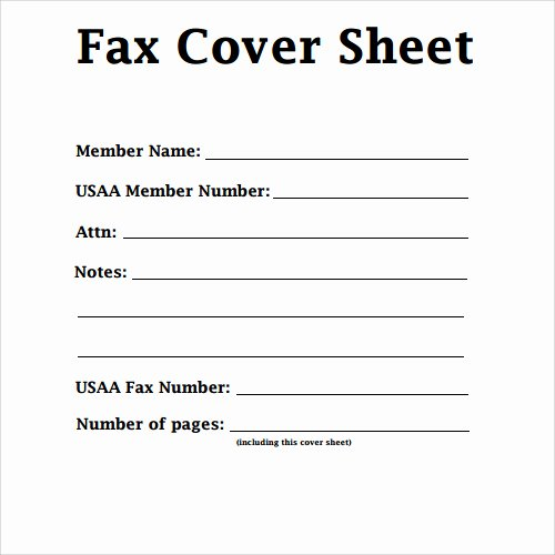 Free Printable Fax Cover Sheet Pdf Word Template Sample