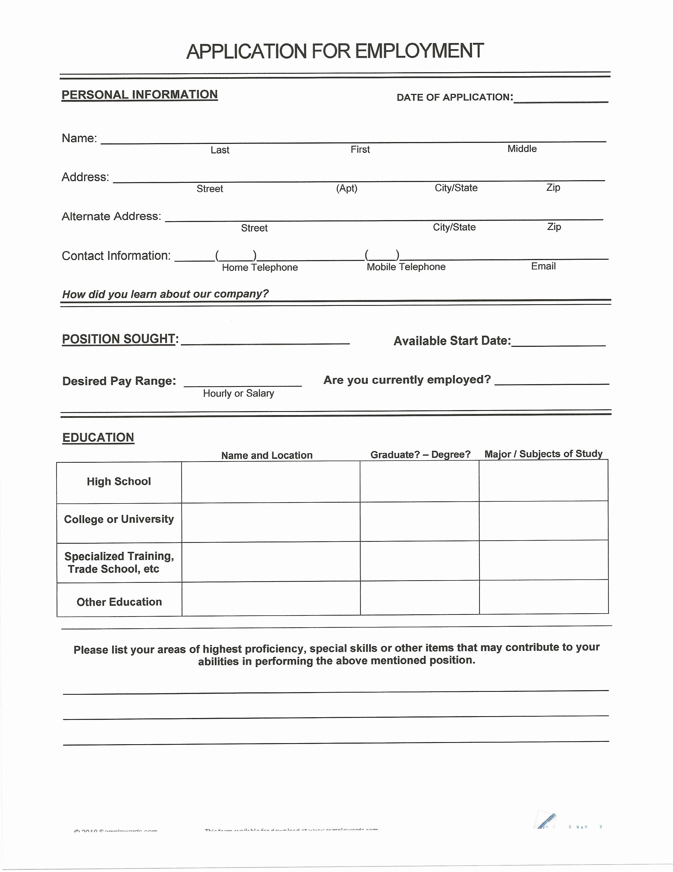 Free Printable Fill In the Blank Resume Templates Student