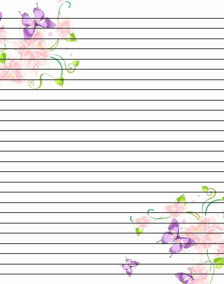 Free Printable Flower Notebook Paper Google Search