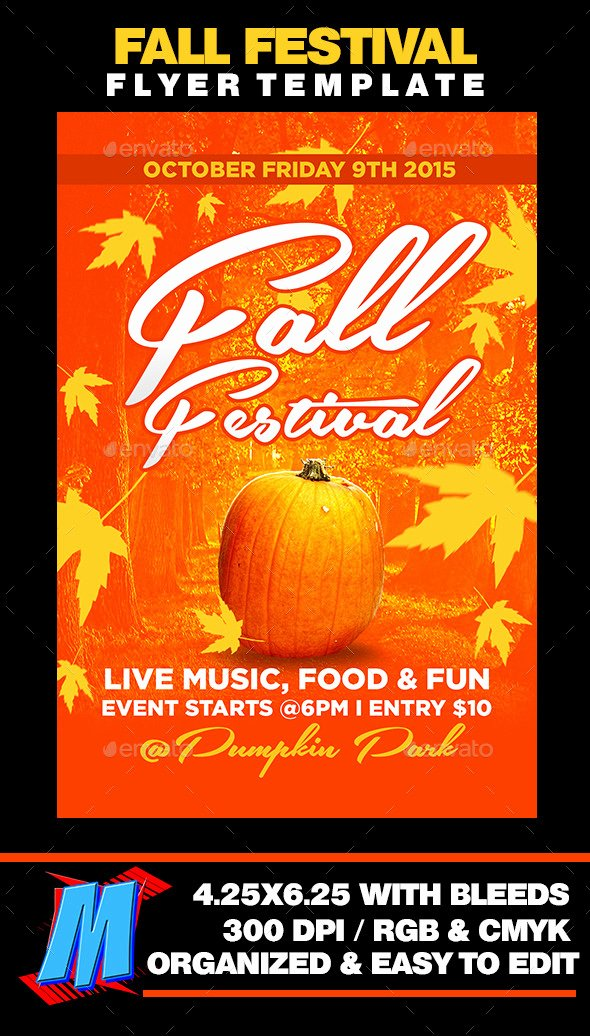 Free Printable Flyer Templates for Fall Festival Fixride