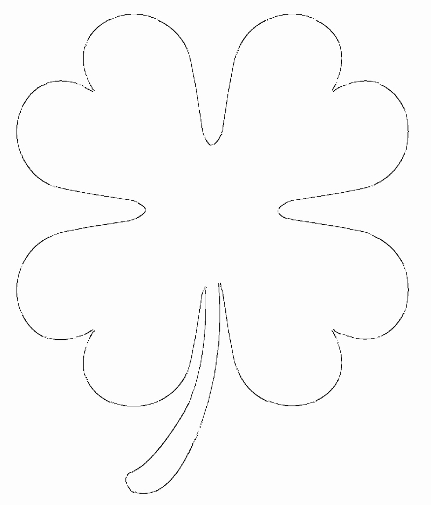 Free Printable Four Leaf Clover Templates – & Small