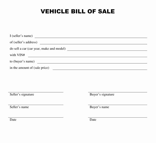 free car bill of sale template