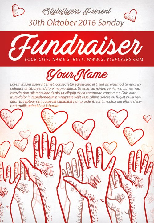 free printable fundraiser flyer templates 2078