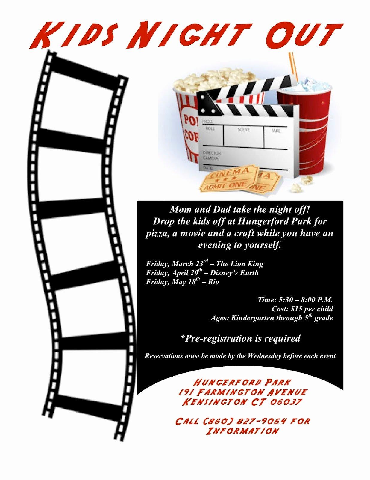 Free Printable Fundraiser Flyer Templates Family Movie