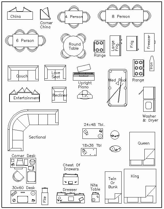 Free Printable Furniture Templates