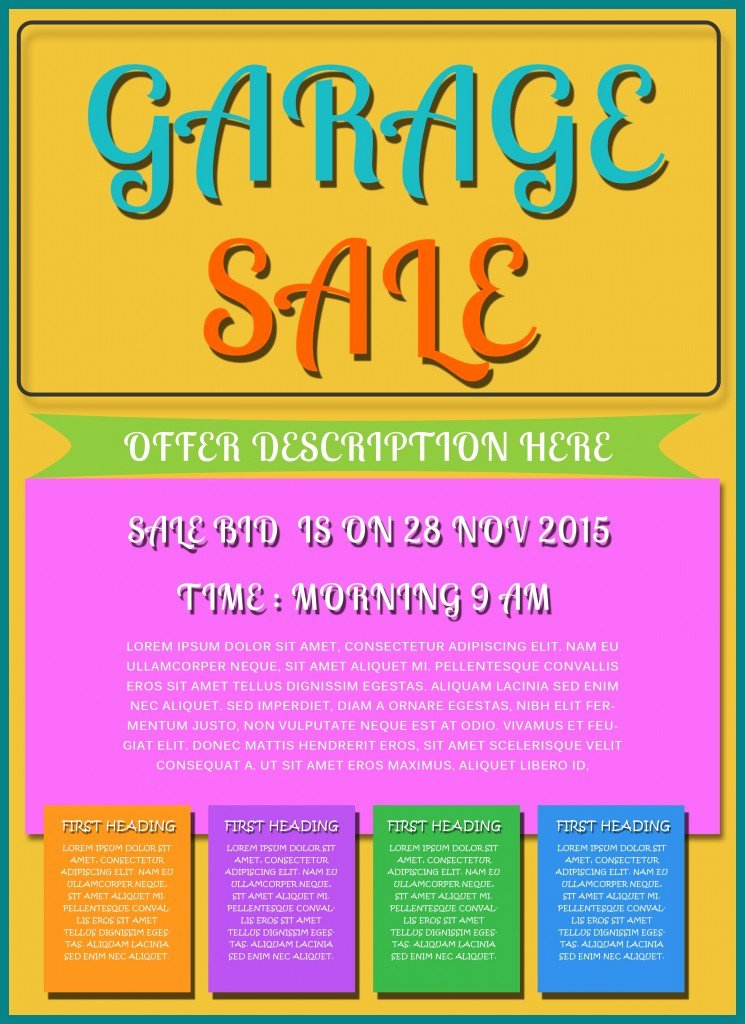 Free Printable Garage Sale Flyers Templates attract More