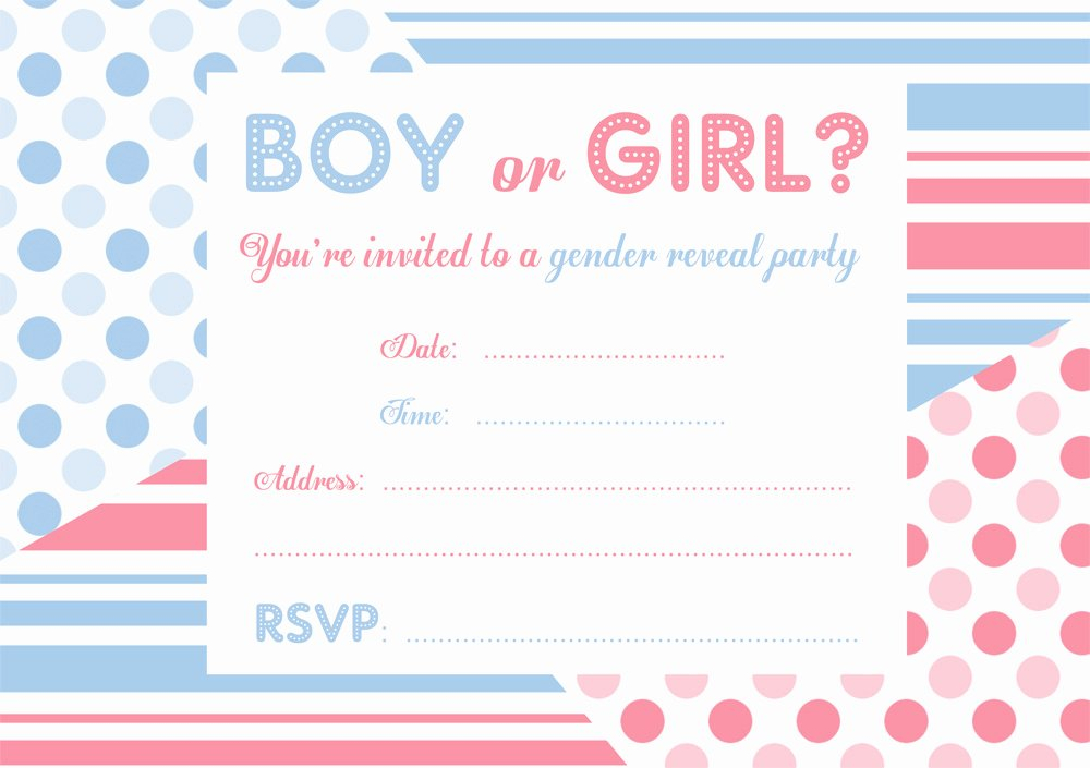 graphic regarding Free Printable Gender Reveal Invitations known as No cost Printable Gender Describe Celebration Invitation Latter