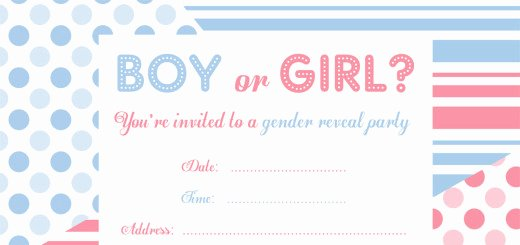 Free Printable Gender Reveal Party Invitations Free
