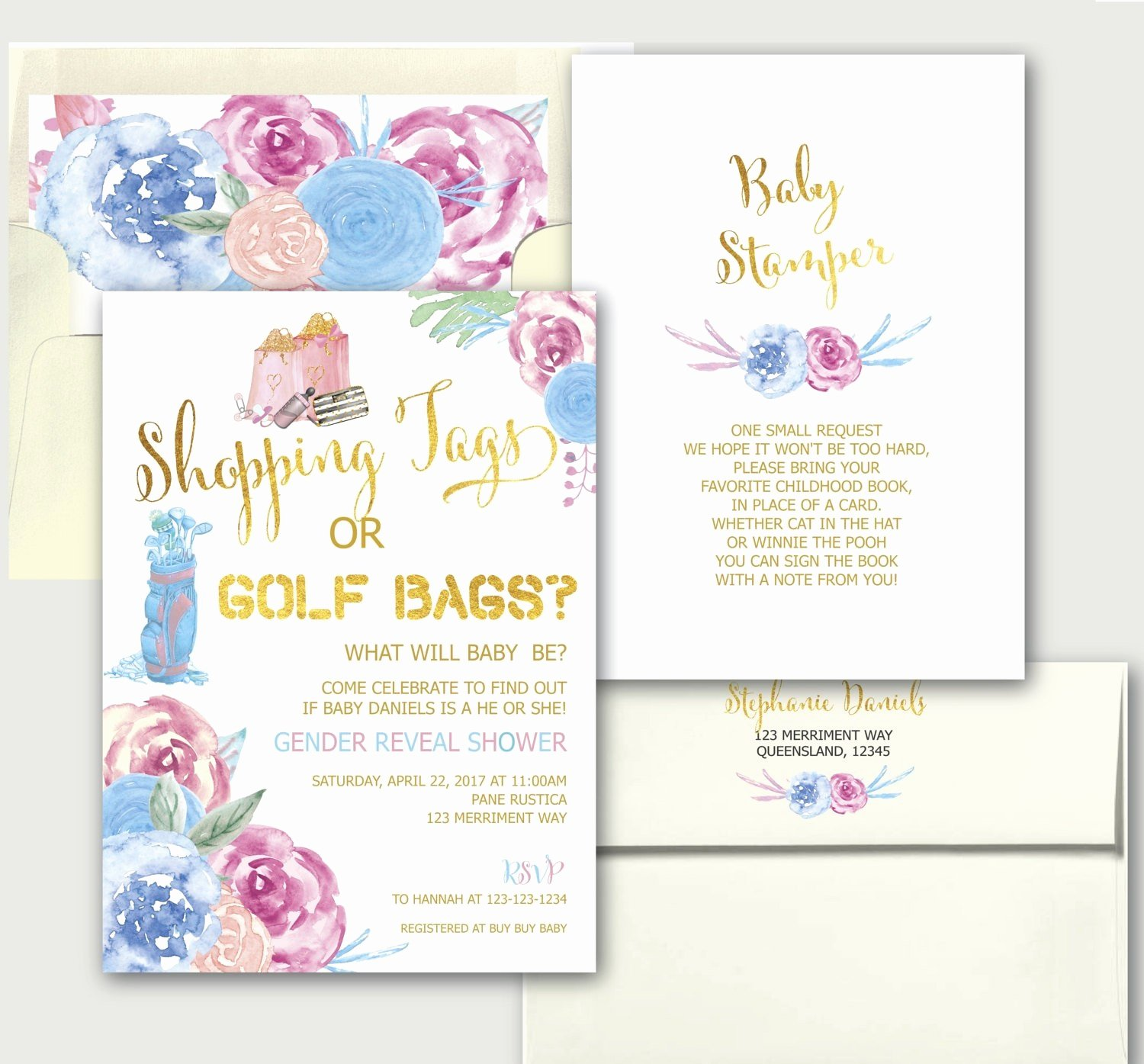 Free Printable Gender Reveal Templates Invitation Template