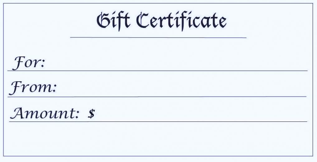 Free Printable Gift Certificate Template Free