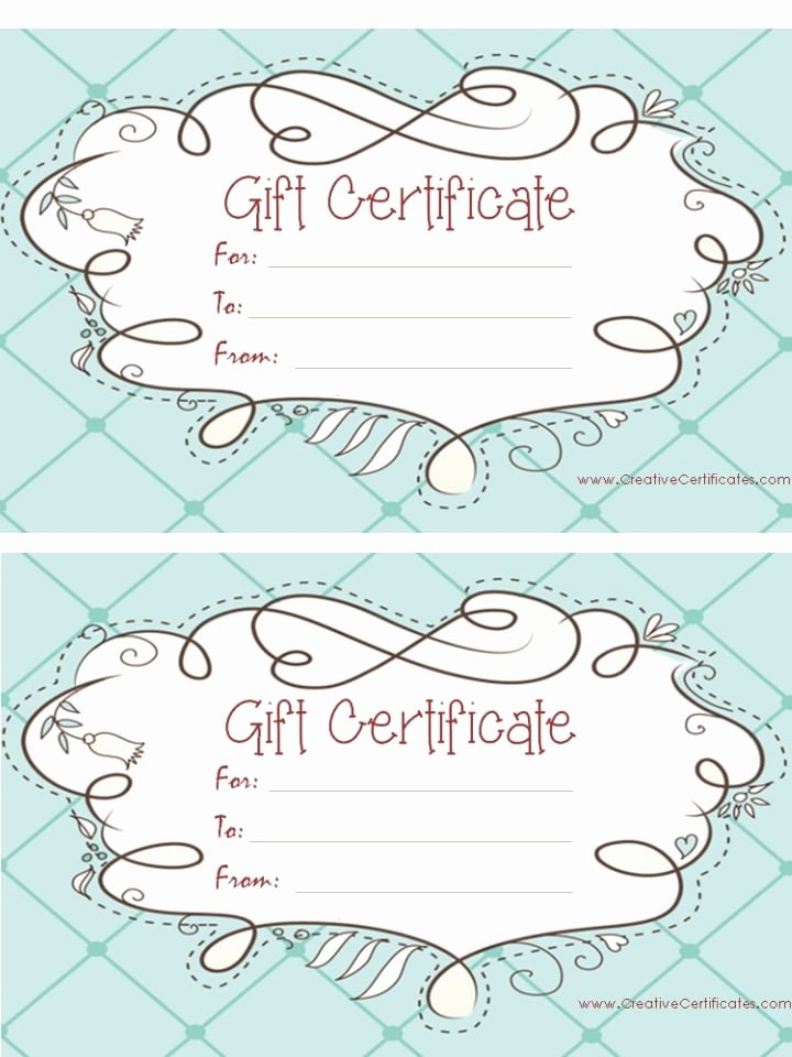 Free Printable Gift Certificate Templates Line