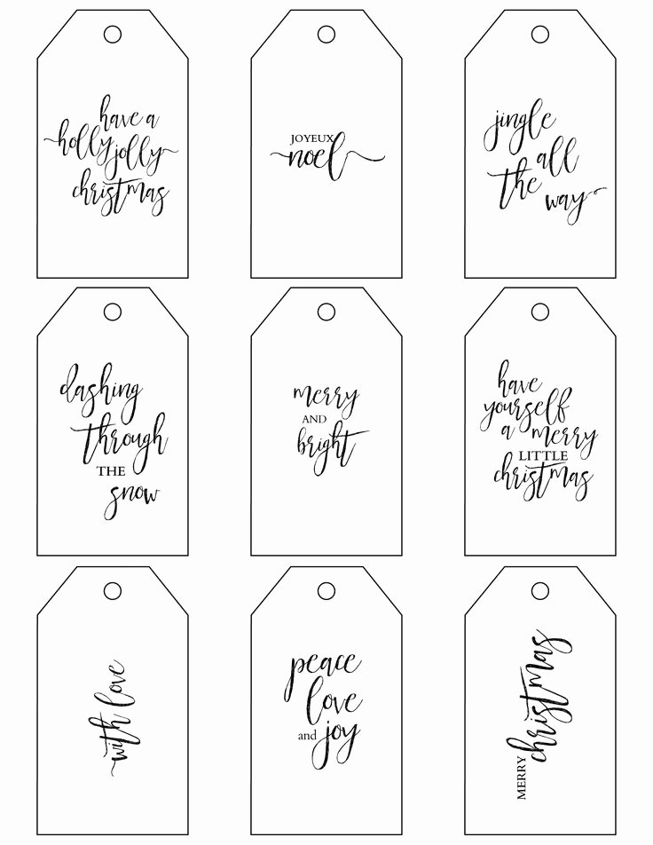 Free Printable Gift Tags Templates Printable 360 Degree
