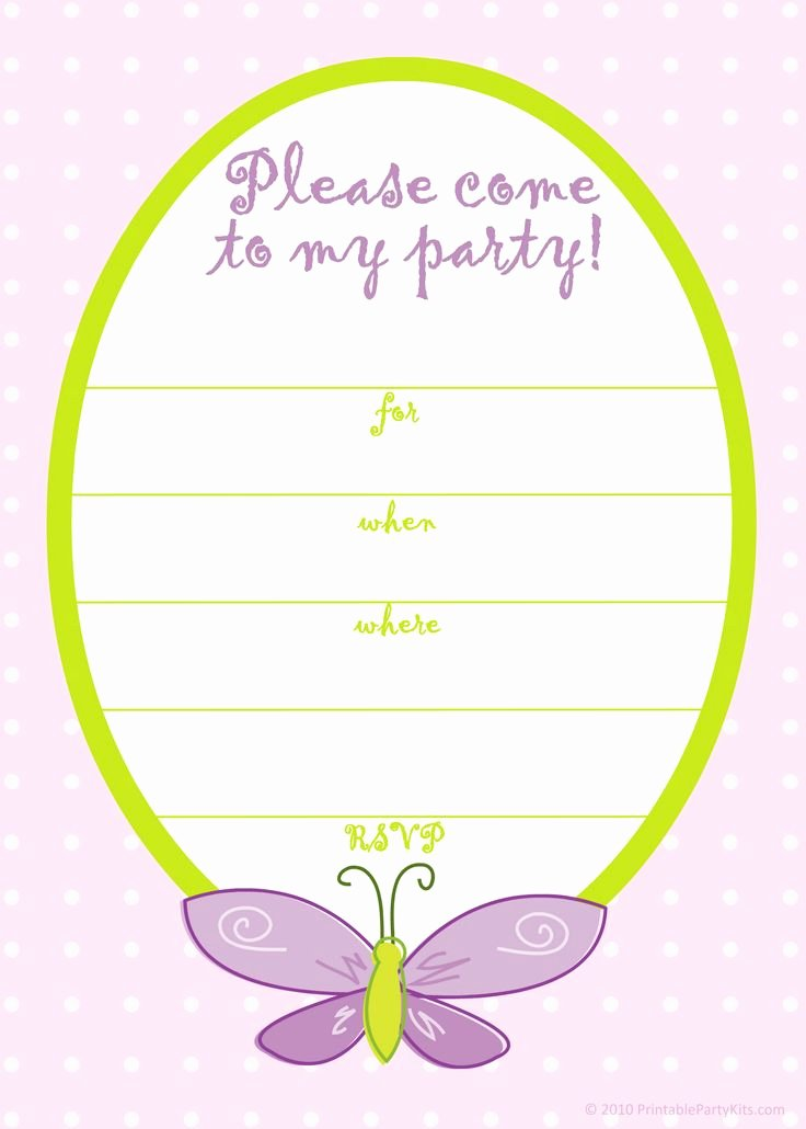 Free Printable Girls Birthday Invitations – Free Printable