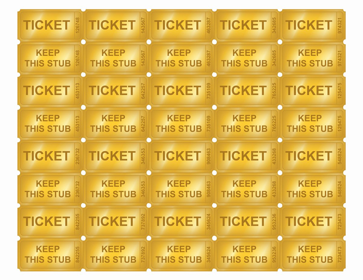 Free Printable Golden Ticket Templates