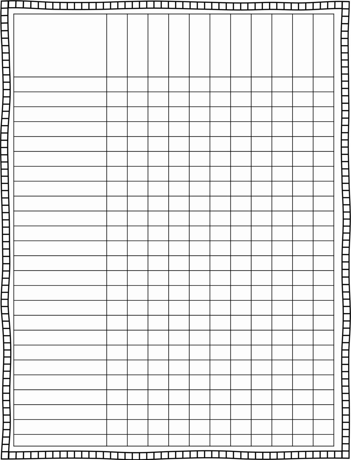 Free Printable Grading Chart for Teachers Printable Pages