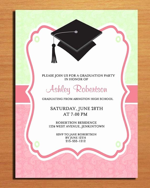 Free Printable Graduation Party Invitation Template