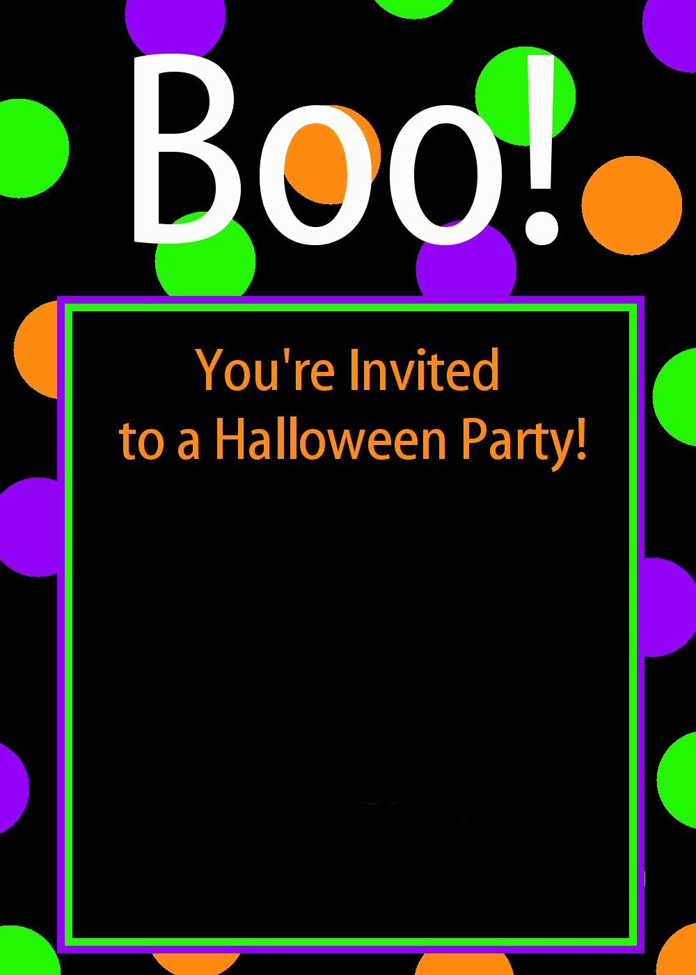 Free Printable Halloween Birthday Invitations Kids