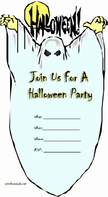 Free Printable Halloween Party Invitations – Festival