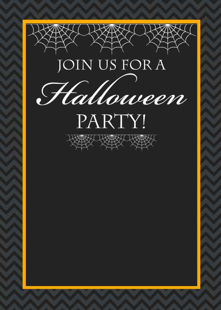 Free Printable Halloween Party Invitations Yellow Bliss Road