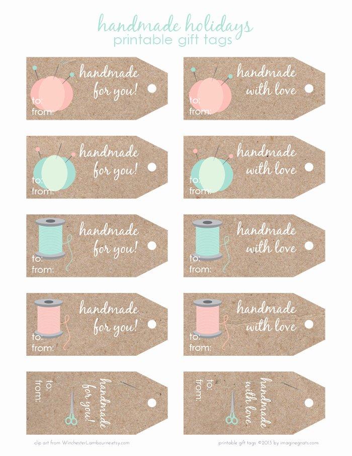 Free Printable Handmade Holidays T Tags Imagine Gnats