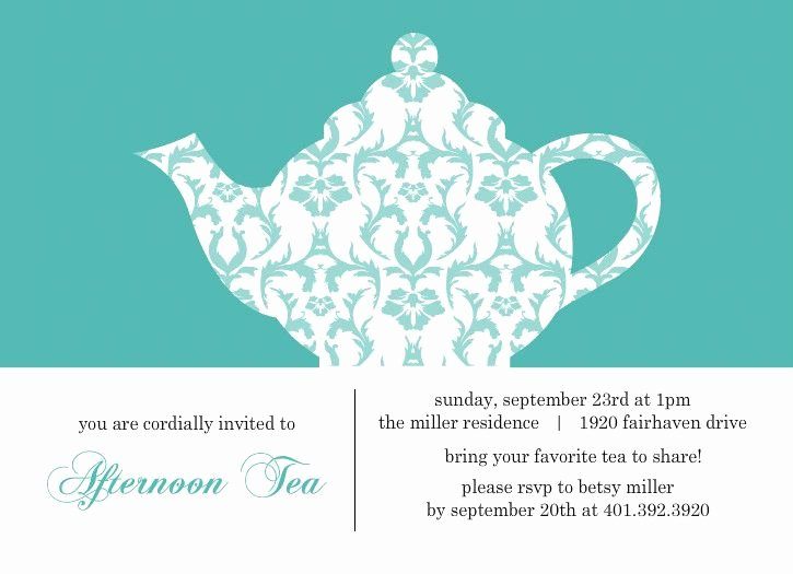 Free Printable High Tea Invitation – orderecigsjuicefo