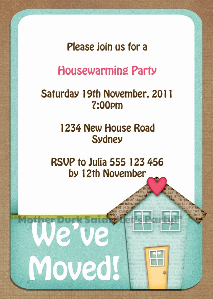 Free Printable Housewarming Invitations Templates