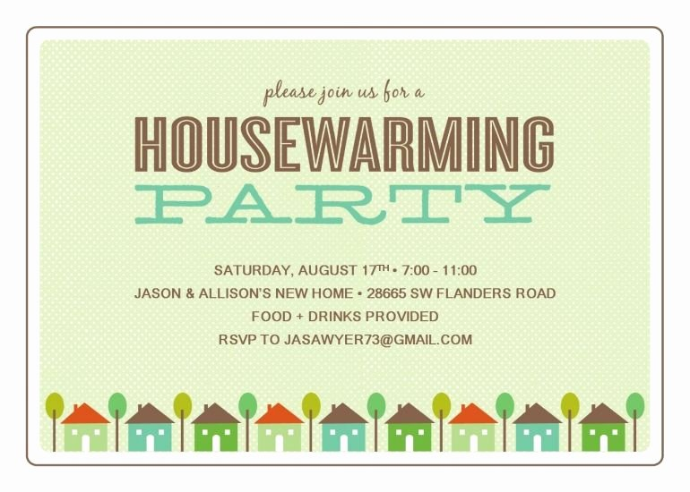 Free Printable Housewarming Party Templates