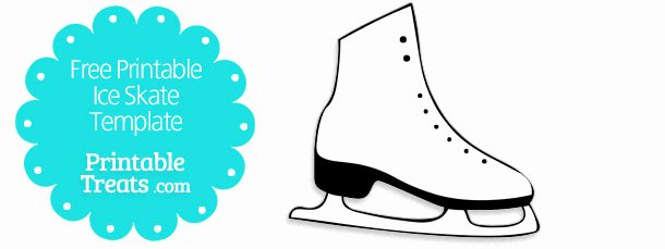 Free Printable Ice Skate Template — Printable Treats