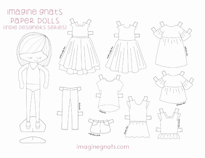 Free Printable In Designers Paper Dolls Imagine Gnats