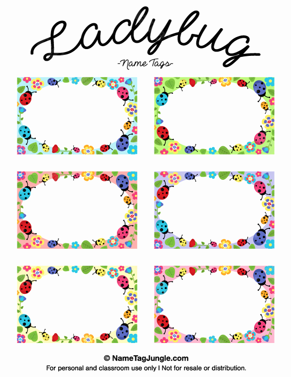 Free Printable Ladybug Name Tags the Template Can Also Be