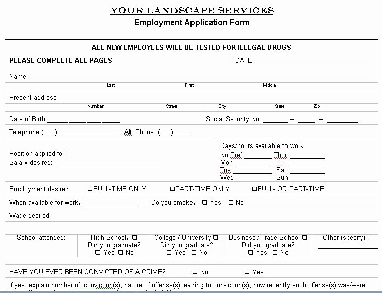 Free Printable Lawn Care Contract form Generic