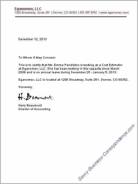 Free Printable Letter Employment Verification form