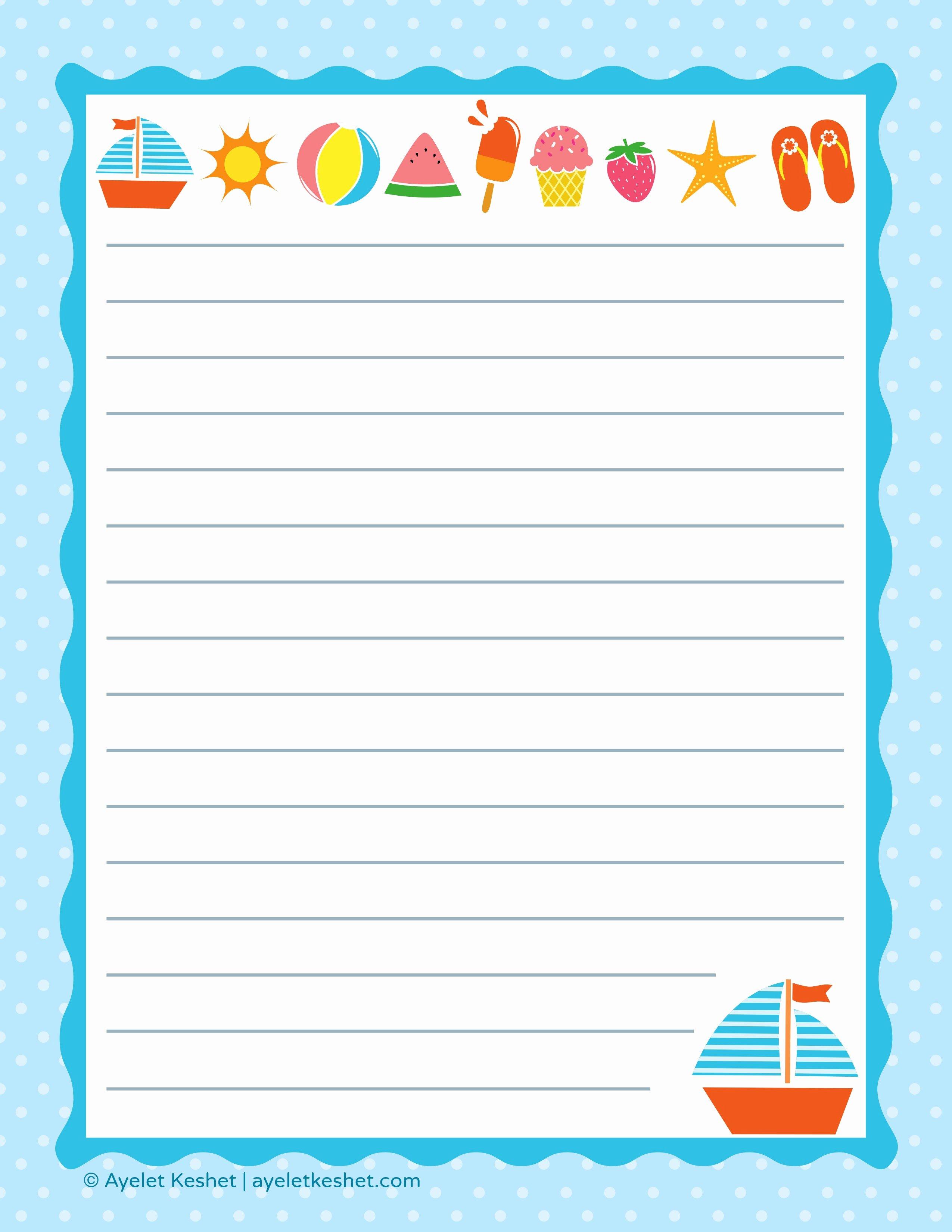 Free Printable Letter Paper Ayelet Keshet