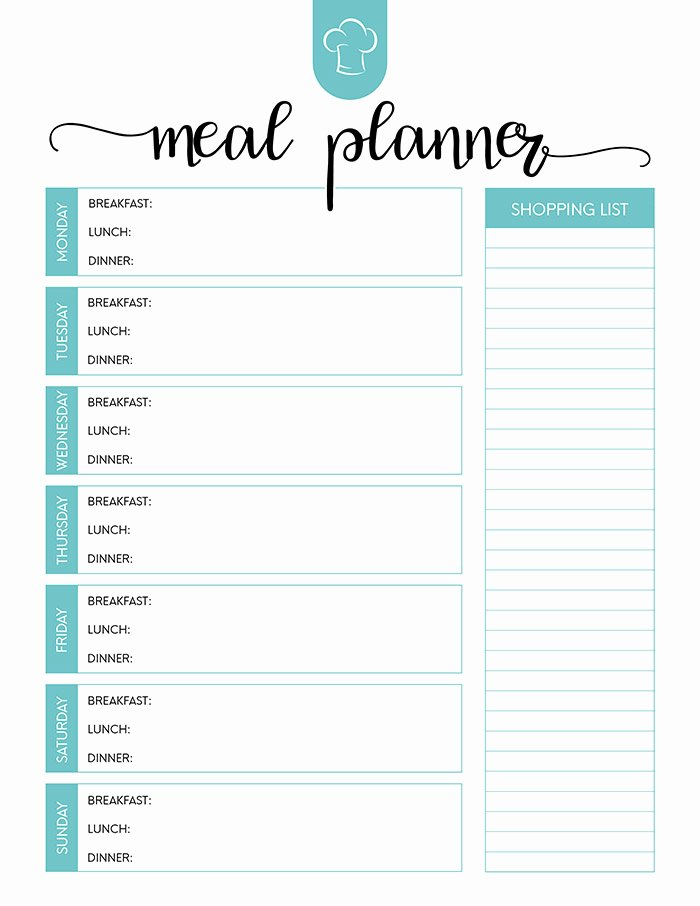 Free Printable Meal Planner Set the Cottage Market