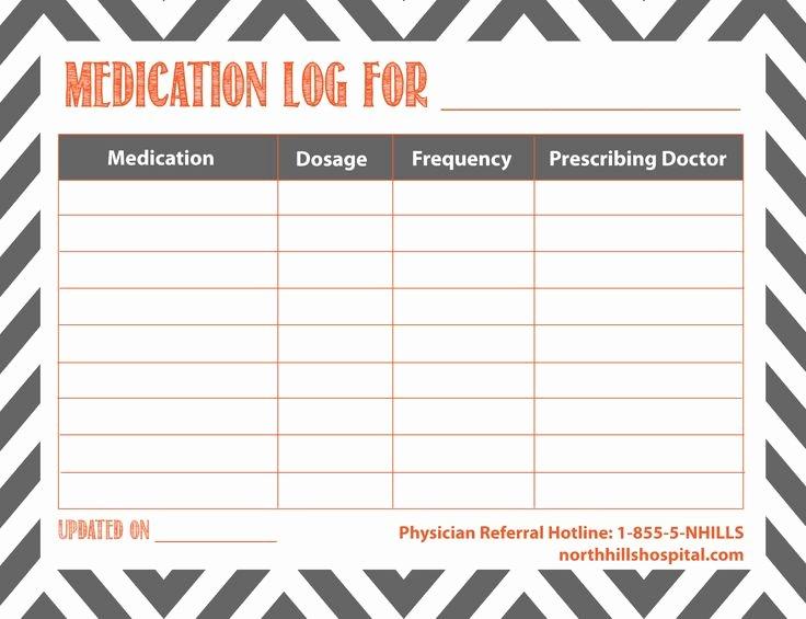 Free Printable Medication Log