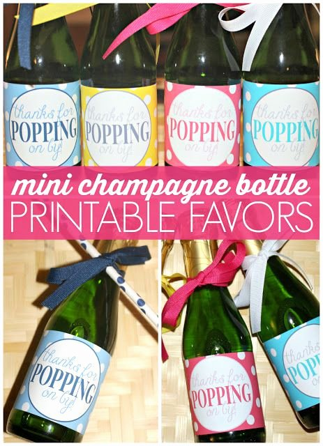 Free Printable Mini Champagne Bottle Favors Labels