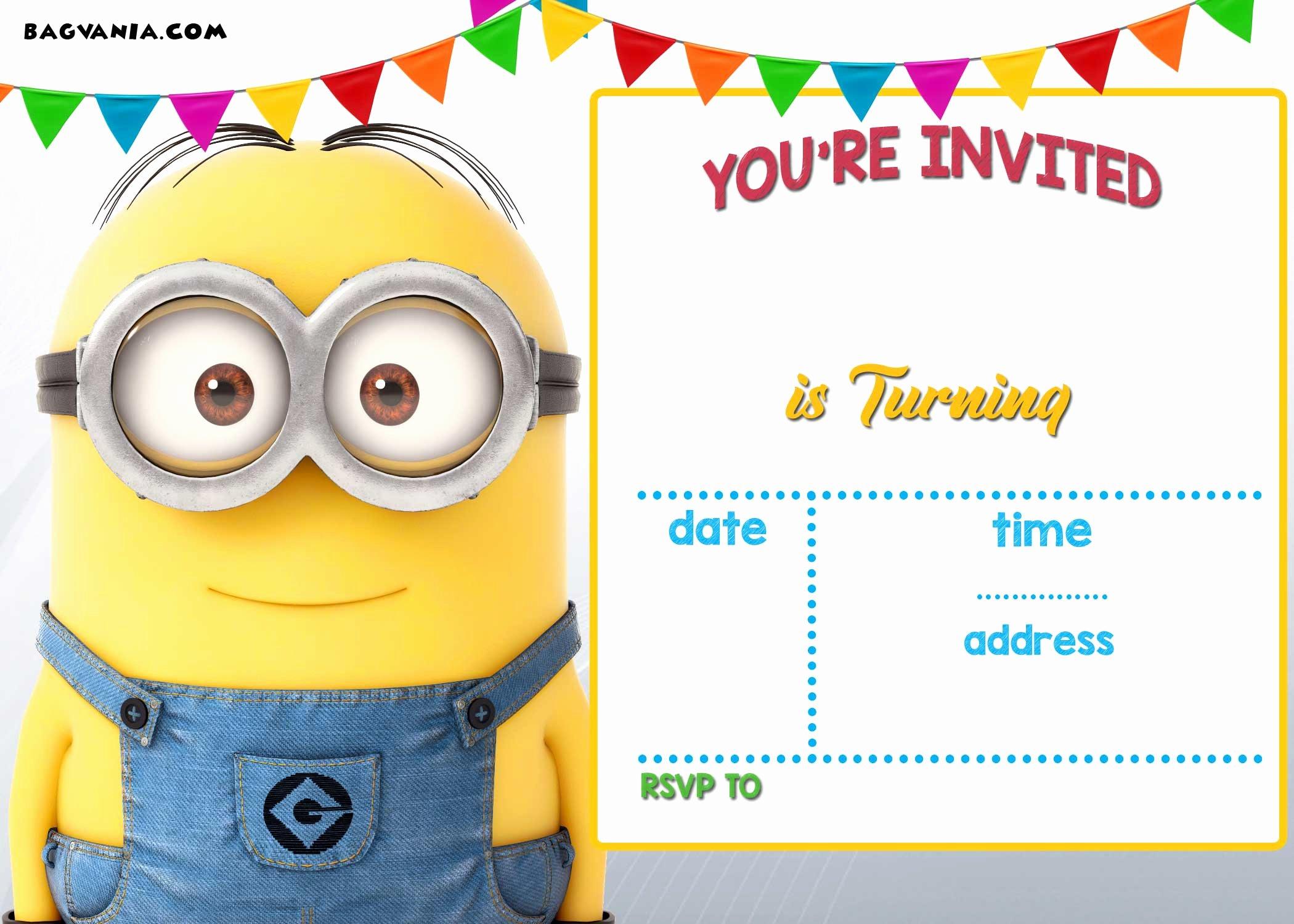 Free Printable Minion Birthday Invitation Templates – Free