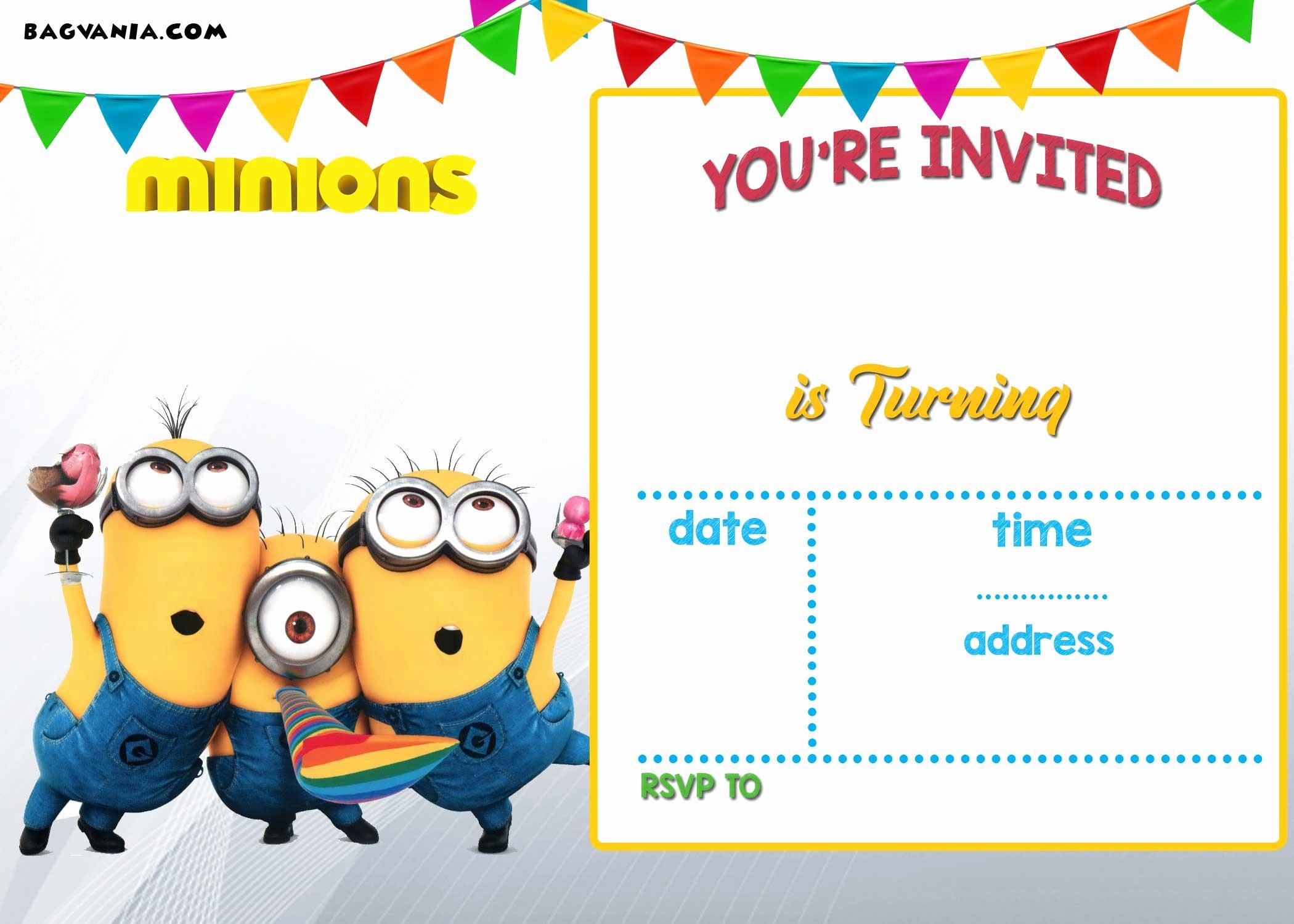 Free Printable Minion Birthday Party Invitations Ideas