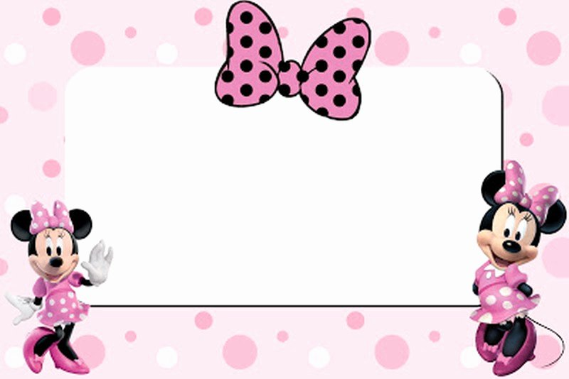 free printable minnie mouse 1st birthday invitation