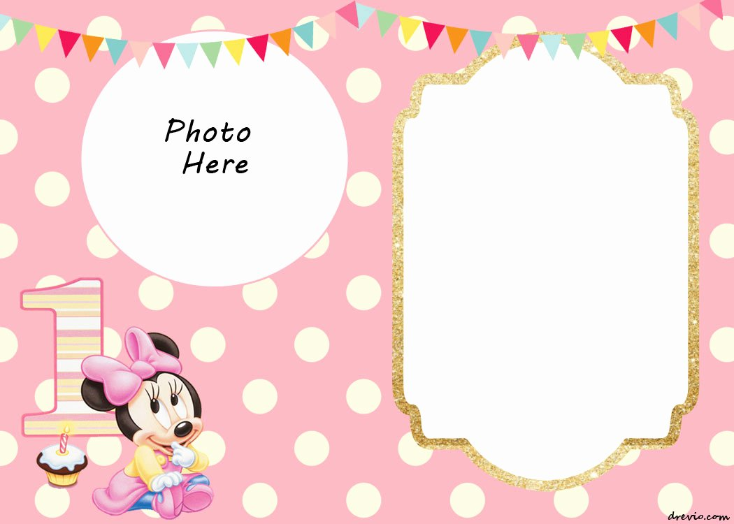 Free Printable Minnie Mouse Birthday Invitations – Free