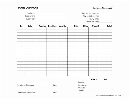 free printable monthly timesheet template 1894