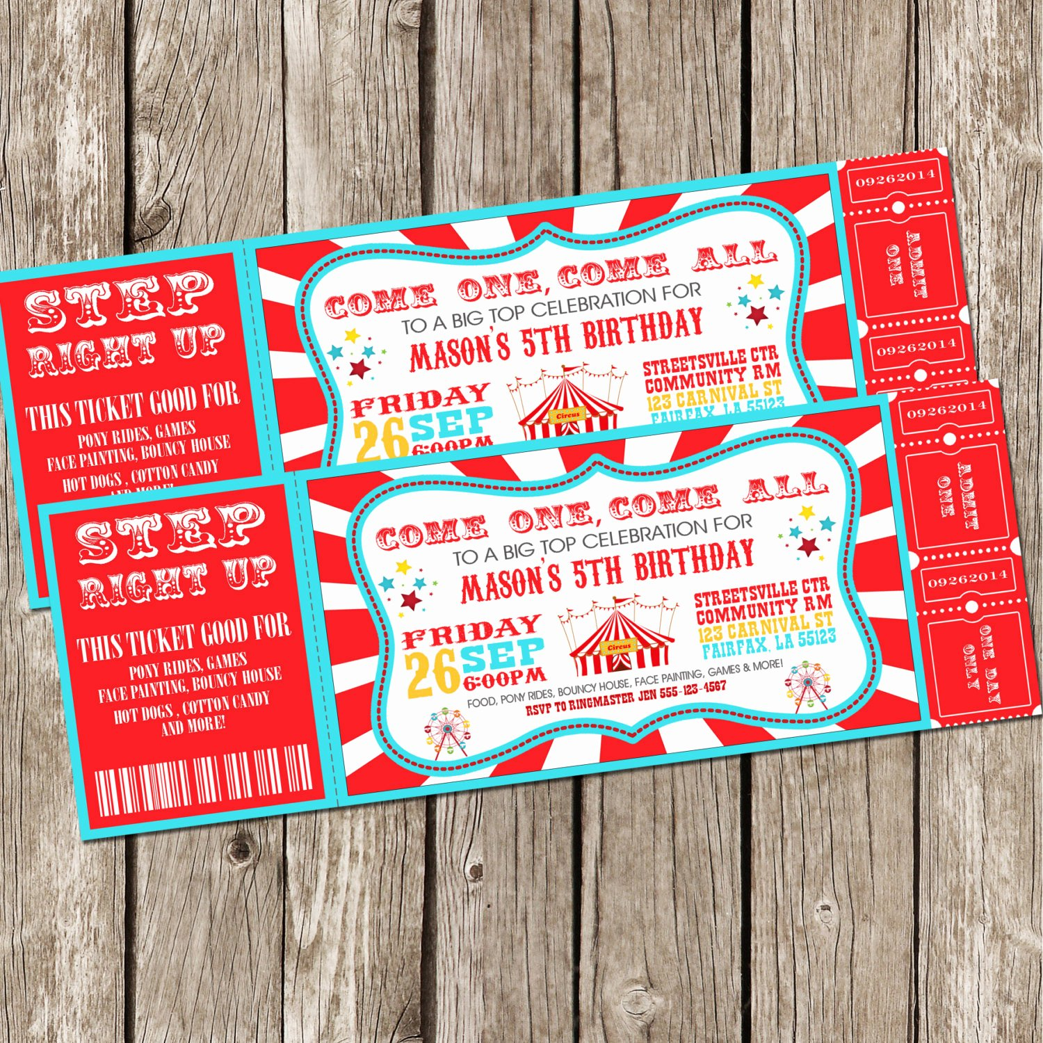 Free Printable Movie Ticket Invitations