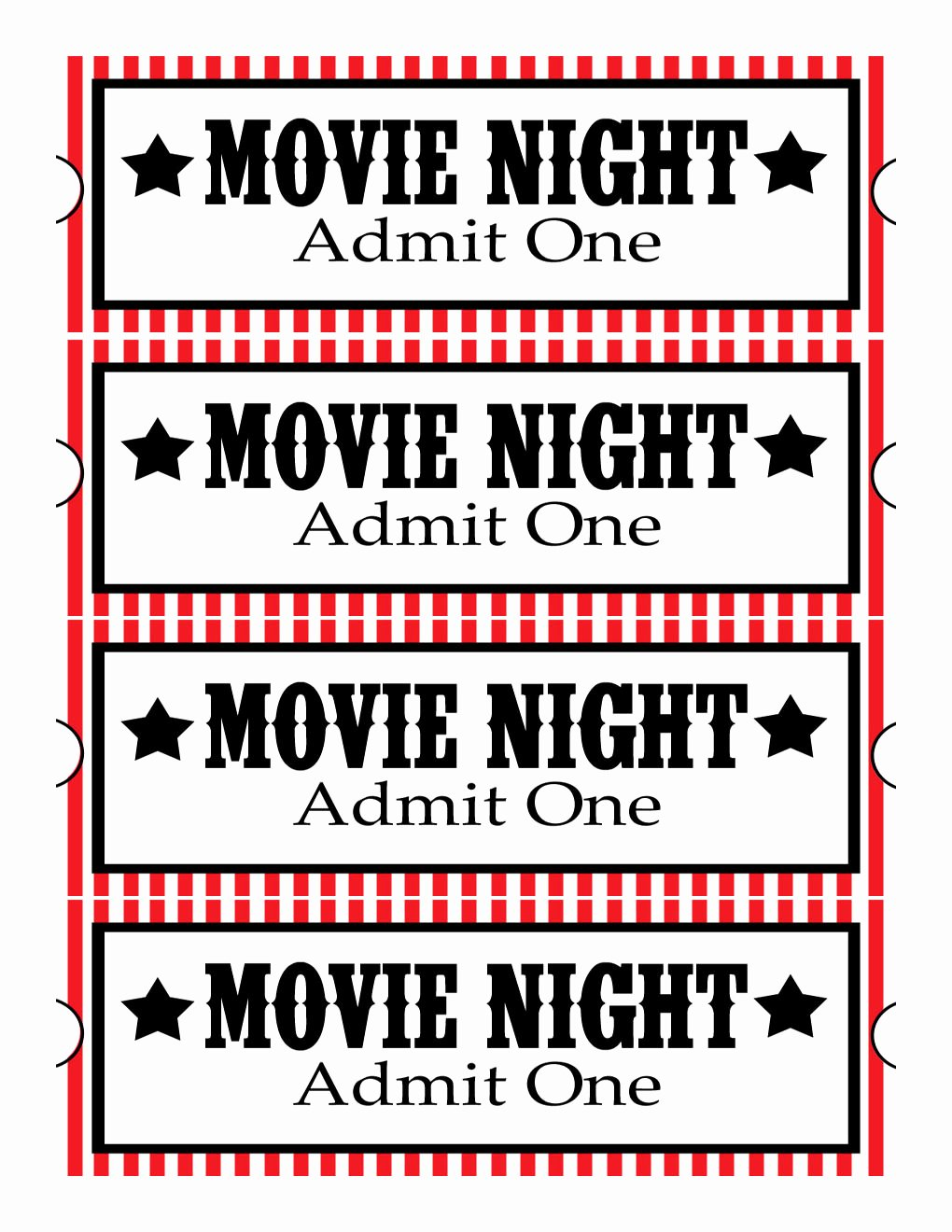 Free Printable Movie Tickets Clipart Best